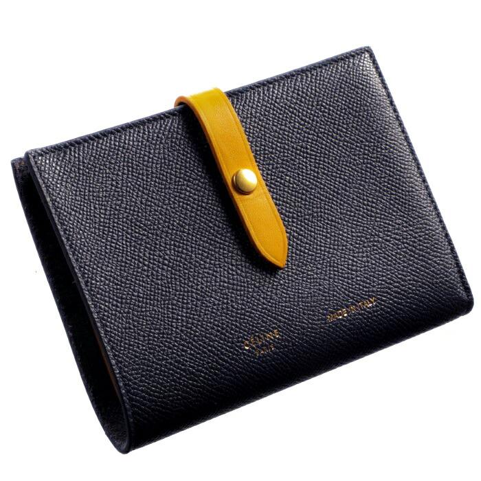 buy popular 6d554 2a567 セリーヌ CELINE 財布 ストラップ ミディアム 二つ折り財布 バイカラー STRAP 二つ折り財布 10481 3AI5 07MI