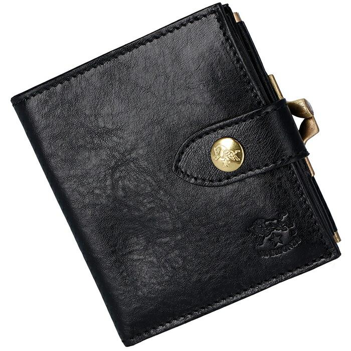 cdc30a9b0409 イルビゾンテ IL BISONTE 2018年秋冬新作 財布 がま口 メンズ ミニ財布 二つ折り財布 C1033.