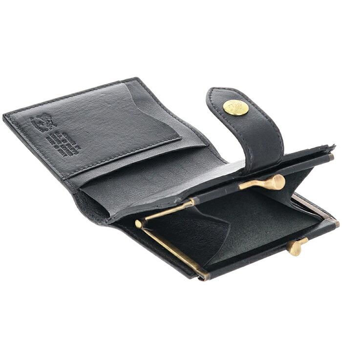 fe8dae5d1e99 イルビゾンテ IL BISONTE 財布 がま口 メンズ ミニ財布 二つ折り財布 ...