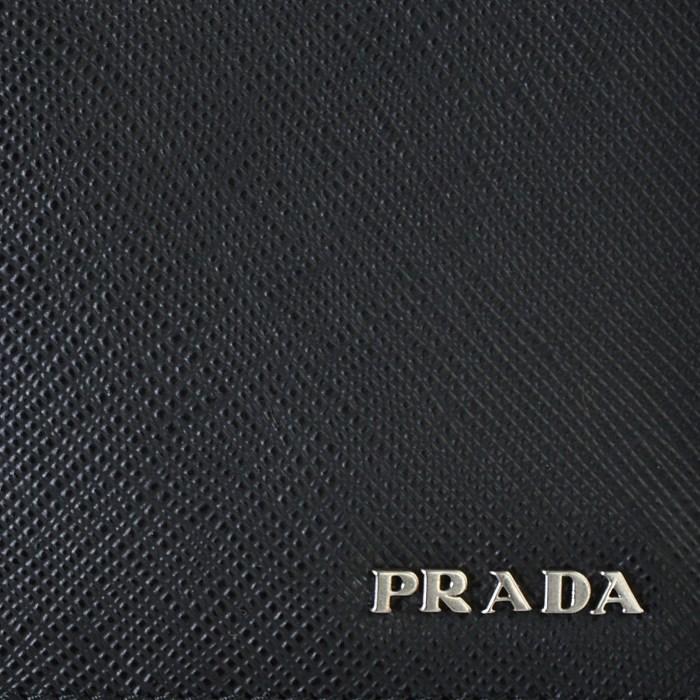 acdde3453d6d 2MV836 C5S D9A メンズ 二つ折り長財布 PRADA プラダ ブラック×レッド 2018年春夏新作 saffiano サフィアーノ