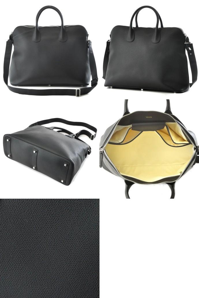 VALEXTRA/ヴァレクストラ  カーフスキン メンズ ビジネスバッグ V4D90 022 000NRD