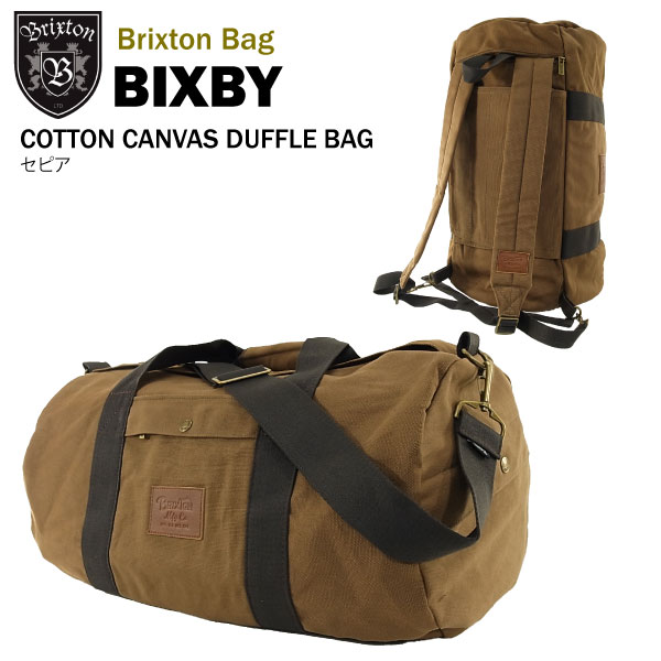 amb  Brixton Bixby cotton canvas duffle bag and backpack 2-WAY bag ... c3b6c2b2cc