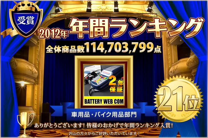 2012年楽天1年間ランキング 車用品 バイク用品部門21位!!!