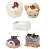 タオルケーキ4個ケーキ箱入れギフトセット