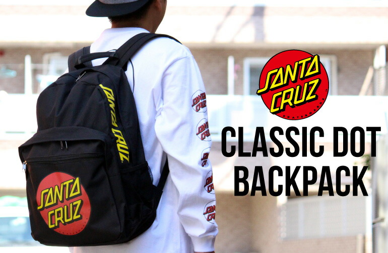 SANTA CRUZ サンタクルーズ CLASSIC DOT BACKPACK BLACK