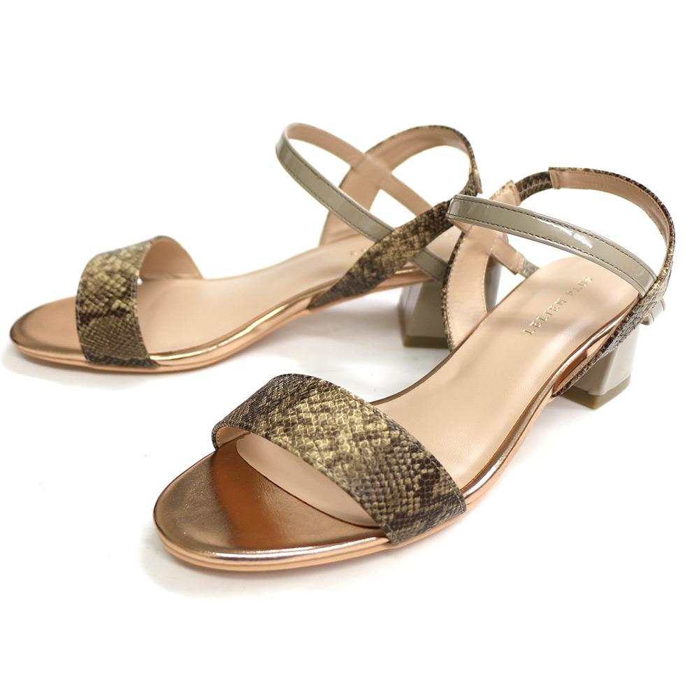 AmiAmiのシューズ・靴/サンダル|パイソン×グレージュ