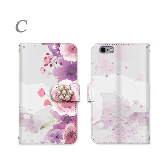 iPhone8 iPhone8 Plus iPhoneX iPhoneケース 全機種対応 手帳型スマホケース デザインケース 花柄 ボタニカル 女子 ケース DM便のみ 送料無料