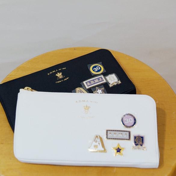 d79865a825df ADMJ 七宝焼きバッチのL字ファスナー財布七宝焼き サイドファスナー 長財布(ad159) 《送料無料》《代引手数料無料》