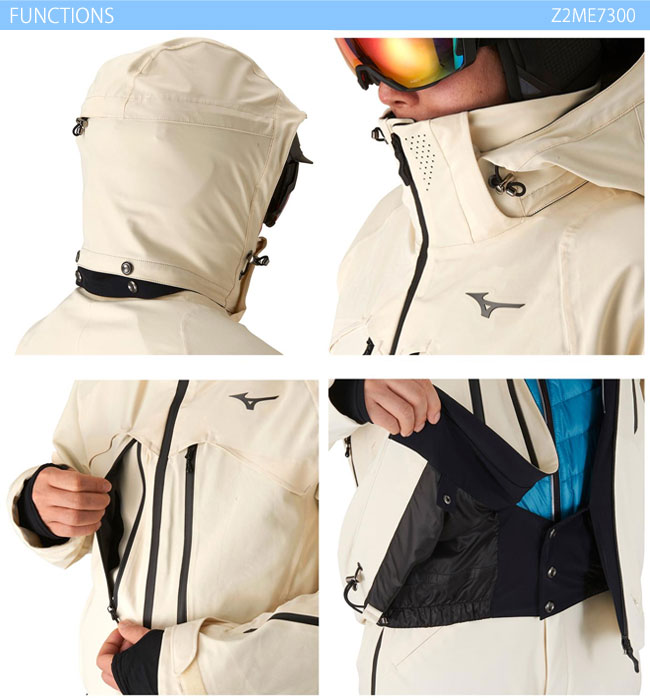 スキーウェア ジャケット/MIZUNO ミズノ ブラックプレミアムジャケット Z2ME7300