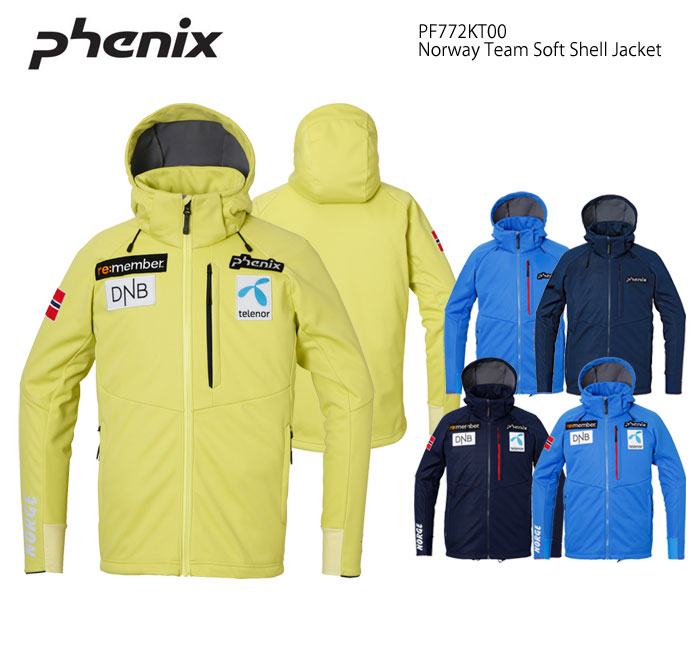 MIDジャケット/PHENIX フェニックス Norway Team Soft Shell Jacket/PF772KT00(2018)