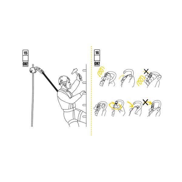 シンギングロック(Singing rock)(チェコ共和国) コントロールデバイス 「バックアップ」 Back Up 【SR0729】 | フォールアレスト ワークポジショニング ロープアクセス クライミング ボルダリング