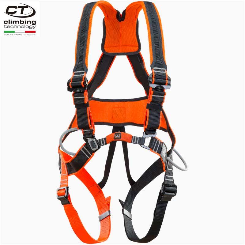 クライミングテクノロジー(climbing technology)(イタリア) フォールアレスト用ハーネス 「ワークテック」 WORK TEC 腰ベルトはメッシュ構造 ショルダーストラップはズレにくい