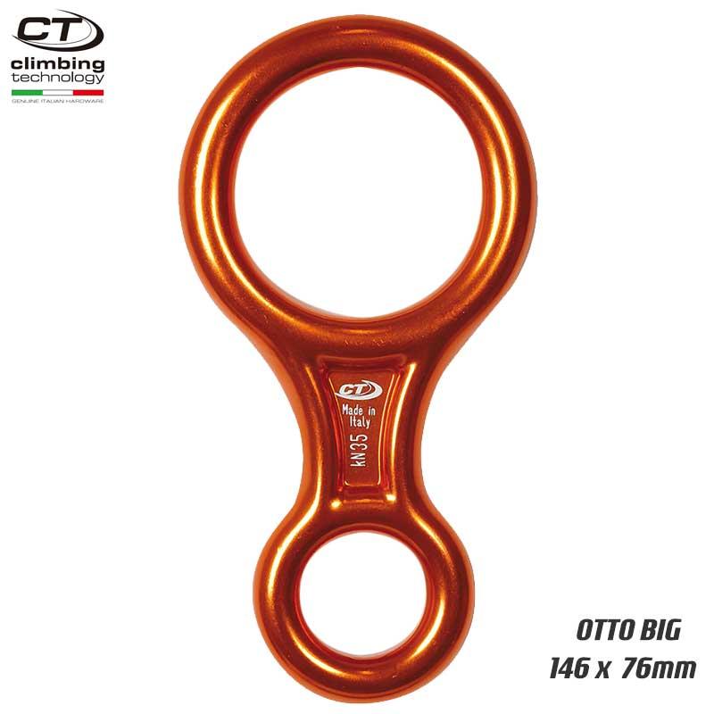 クライミングテクノロジー(climbing technology)(イタリア) 熱間鍛造製 エイト環 「オットー ビッグ」 OTTO BIG 【2D603】 | ホットホージング レスキュー 下降