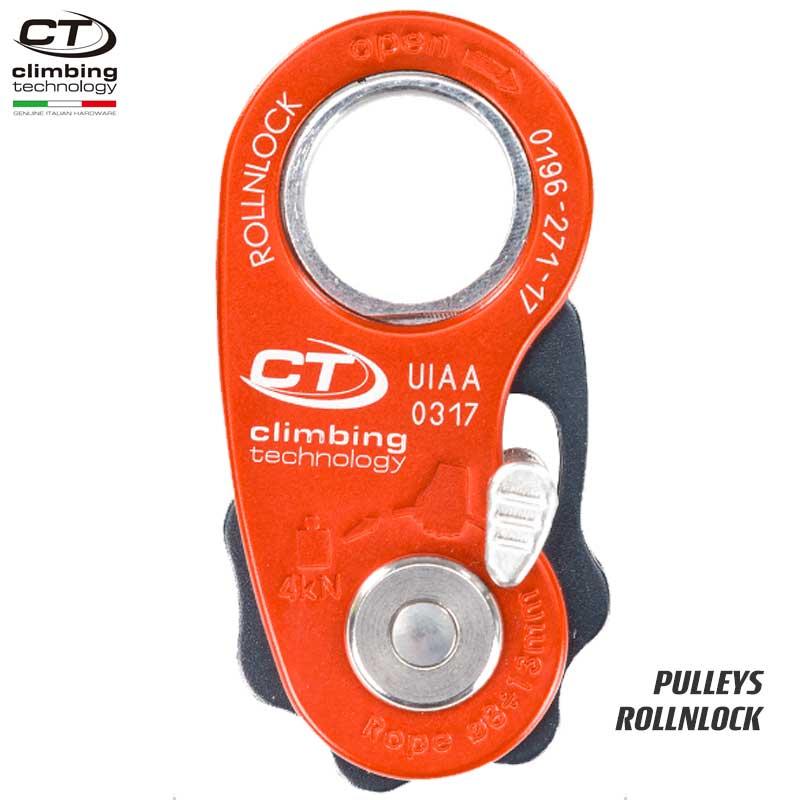 クライミングテクノロジー(climbing technology)(イタリア) セルフジャミングプーリー 「ロールンロック」 ROLLNLOCK 【2D652】   ツリークライミング ロープ登高 レスキュー 下降
