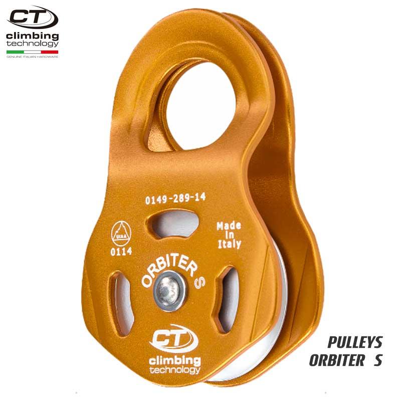 クライミングテクノロジー(climbing technology)(イタリア) シングルプーリー 「オービター S」 ORBITER S 【2P660】   ツリークライミング ロープ登高 レスキュー 下降