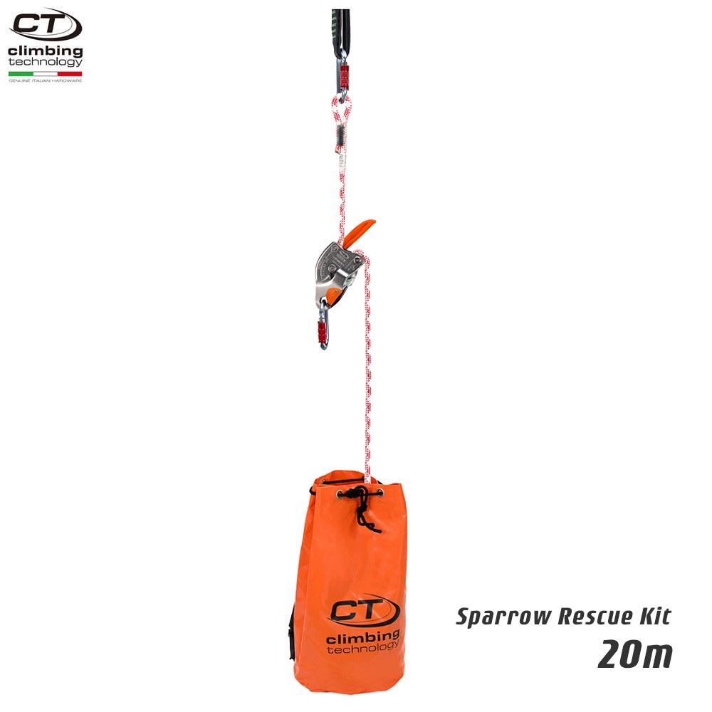 Climbing Technology(クライミングテクノロジー)  レスキュートライポッド スパロー レスキューキット (Sparrow Rescue Kit) 20m 【2K646020】