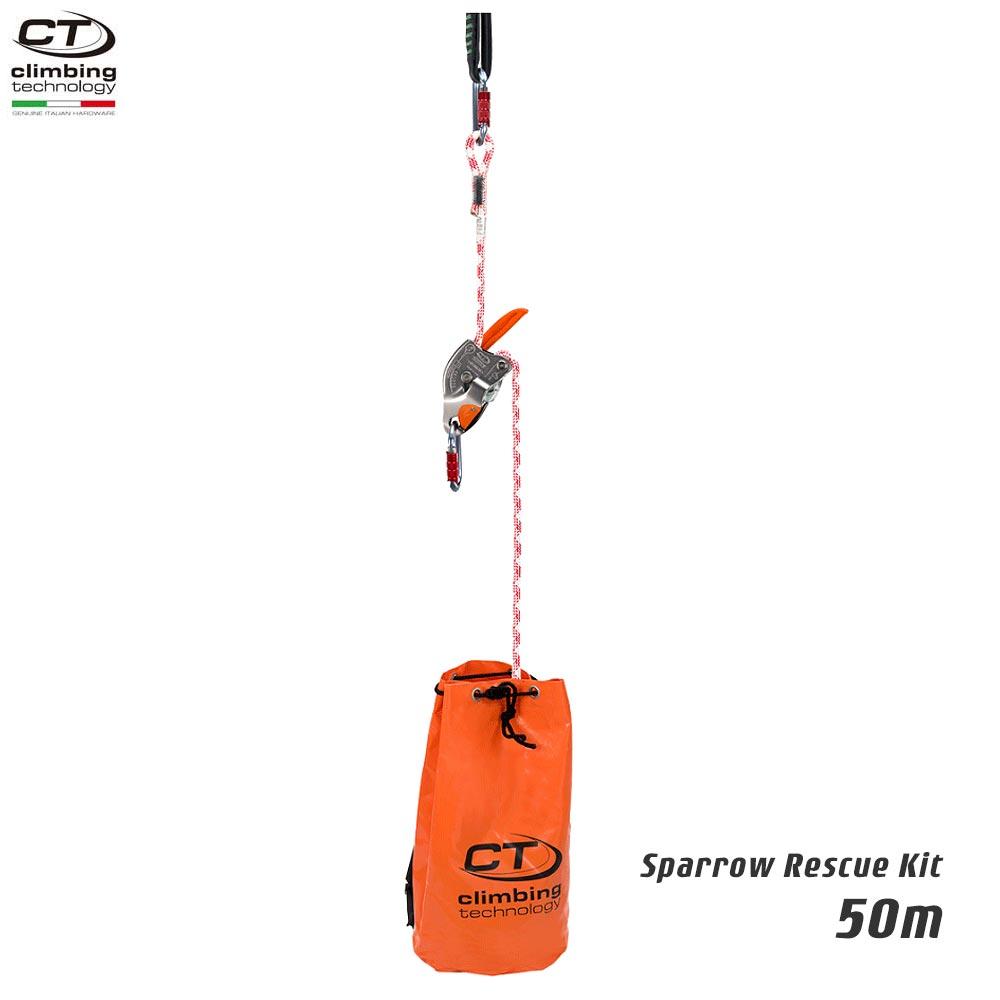 Climbing Technology(クライミングテクノロジー)  レスキュートライポッド スパロー レスキューキット (Sparrow Rescue Kit) 50m 【2K646030】