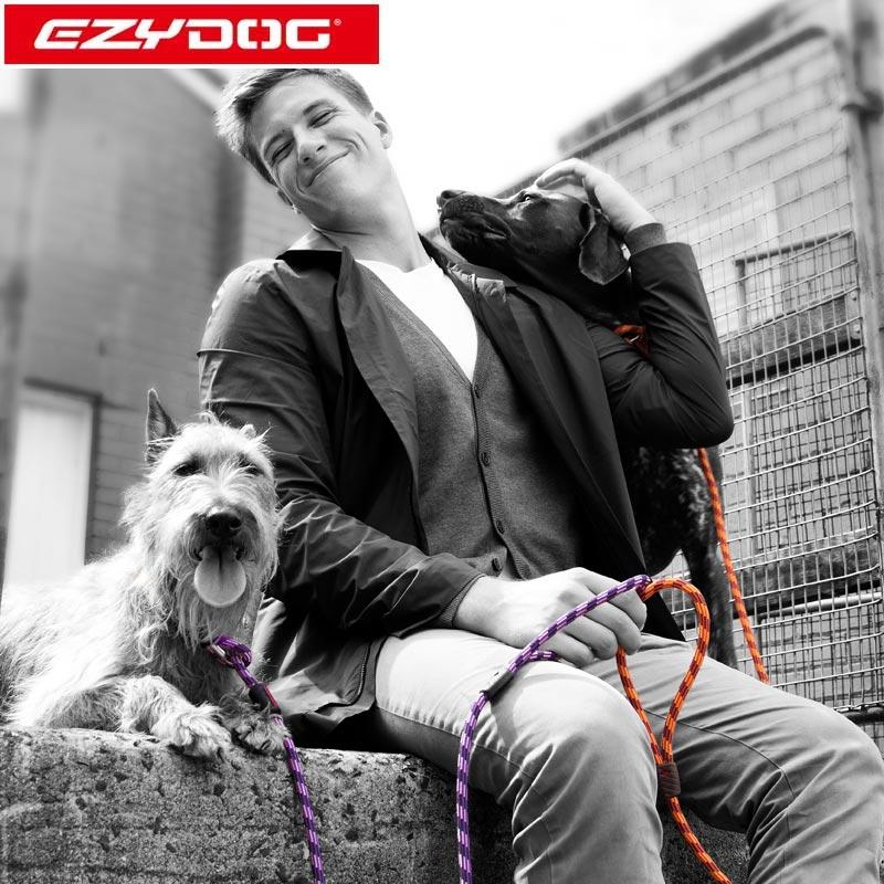 オーストラリア EZYDOG社 犬用(ドッグ) 登山ロープ使用 首輪一体型リード ルカリードライト| チョークリード
