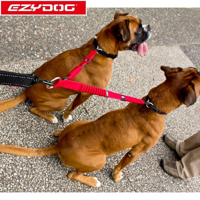 オーストラリア EZYDOG社 犬用(ドッグ) 2頭引き用ショック吸収延長リード ゼロショックエクステンションダブル
