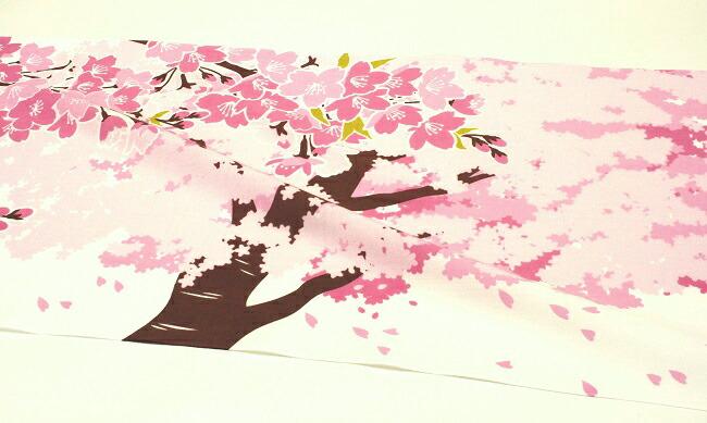 手ぬぐい「こぼれ桜」