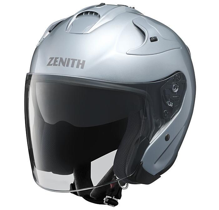 ヤマハサンバイザージェットヘルメット ゼニスYJ-17クリスタルシルバー