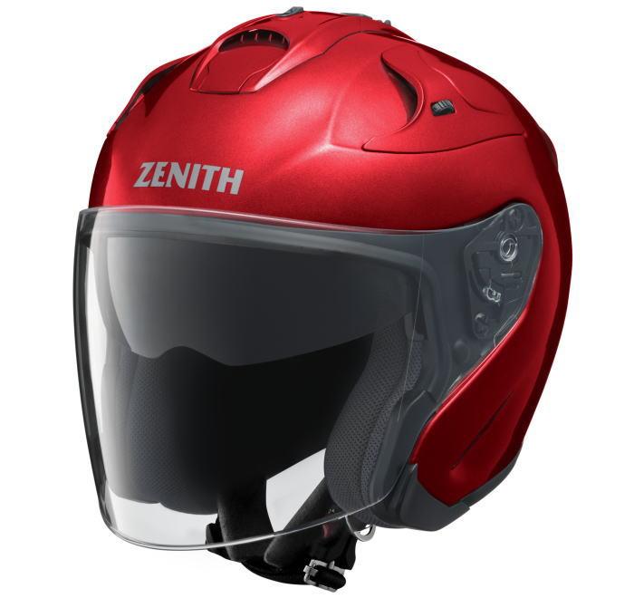 ヤマハサンバイザージェットヘルメット ゼニスYJ-17メタリックレッド