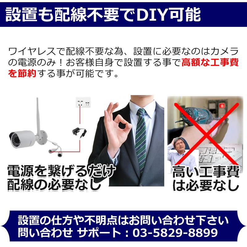 防犯カメラ ワイヤレス 屋外 家庭用
