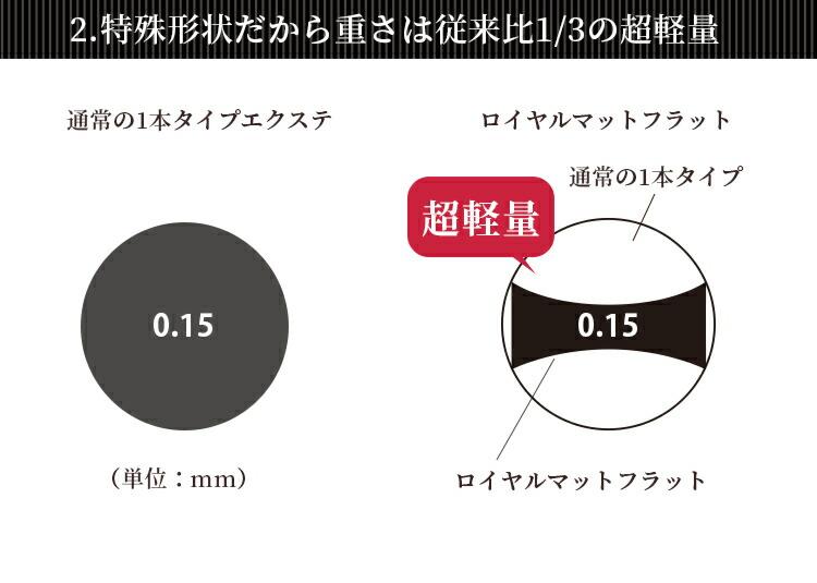 ロイヤル マットフラット(2又)(6列) 0.15mmLP