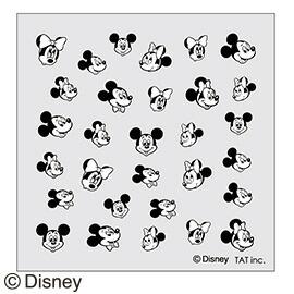 シャレドワ ディズニーネイルシール ミッキーマウス&ミニーマウス ノスタルジック ブラック×ホワイト