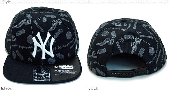 ニューヨーク ヤンキースキャップ/MLB キャップ/47Brandキャップ/47BRAND×McBess