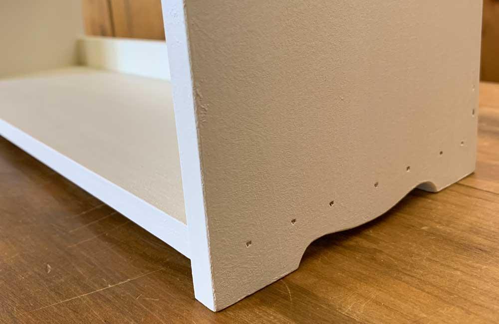 三段スパイスラック チェッカーガラス扉 アンティークホワイト 木製 ひのき ハンドメイド 受注製作