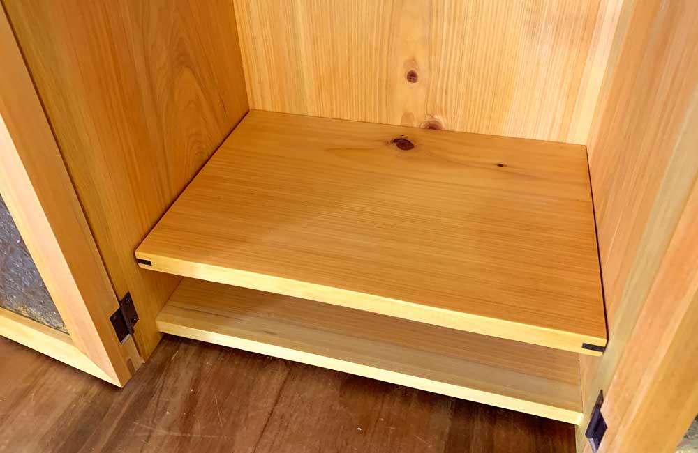 ペット仏壇 一段棚 ナチュラル フローラガラス扉 ブロンズ取手 w30xd22xh33cm ハンドメイド 木製 ひのき 受注製作