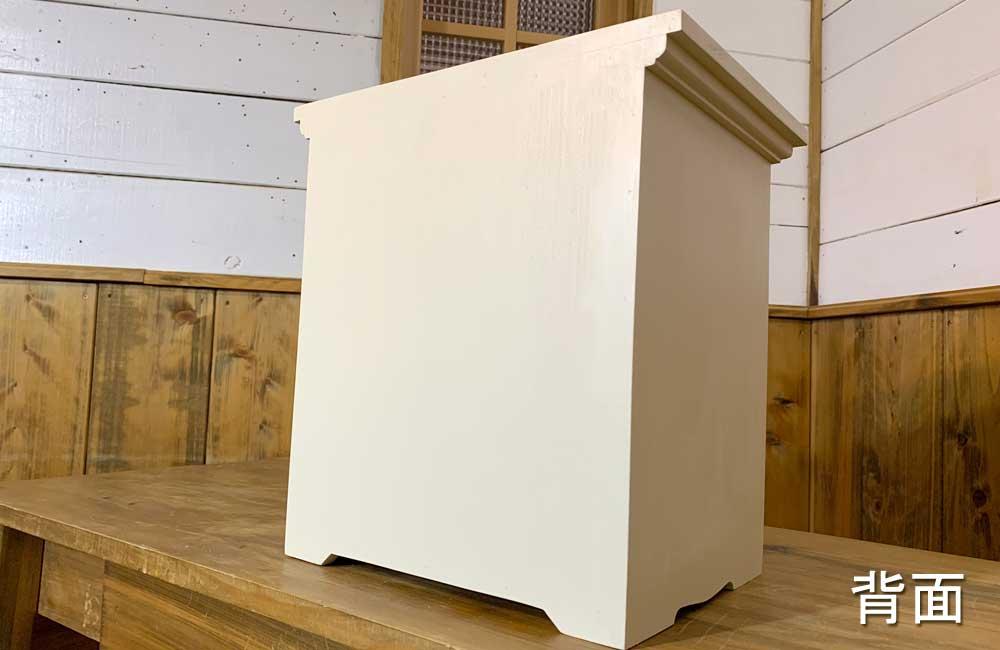 ペットのおぶつだん 木製扉 木製取手 アンティークホワイト w30d22h32cm ハンドメイド 木製 ひのき オーダーメイド