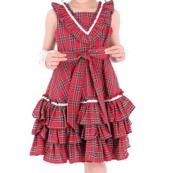 天使のドレス屋さん チェック ワンピース スカート 赤 子供服 子供