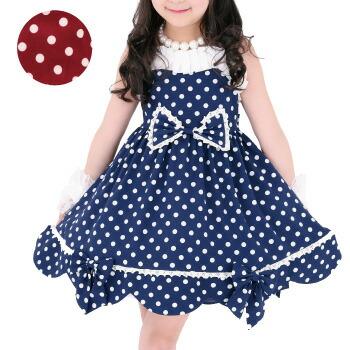 天使のドレス屋さん ドット ワンピース スカート 子供服 子供