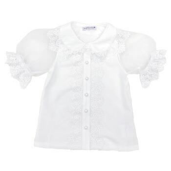 天使のドレス屋さん 半袖 子供服 シースルー ブラウス 子供