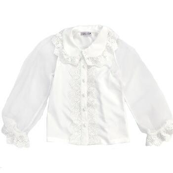 天使のドレス屋さん 長袖 シースルー ブラウス 子供服 子供