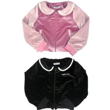 天使のドレス屋さん 子供 子ども ブルゾン セーラー 黒 ピンク 防寒 女の子