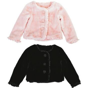 天使のドレス屋さん 子供 子ども アウター 黒 ピンク 防寒 発表会 衣装 ふわふわ 女の子
