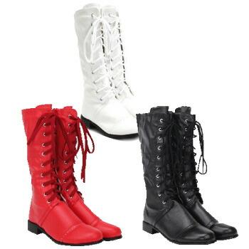 天使のドレス屋さん 子供 子ども ブーツ ロングブーツ コーデ 着回し ホワイト ブラック レッド 靴 シューズ