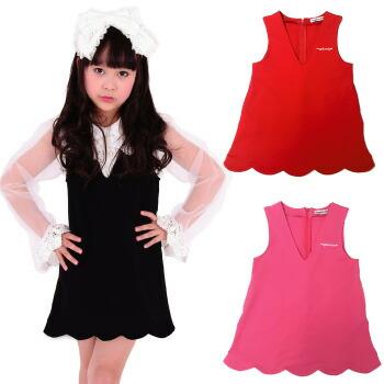 天使のドレス屋さん 子供 子ども スカート 黒 赤 ピンク レッド ブラック 着回し 女の子
