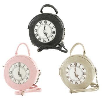 天使のドレス屋さん ロリータ バッグ かばん 鞄 懐中時計 アリス 女の子 ホワイト ブラック ピンク ショルダー ハンド