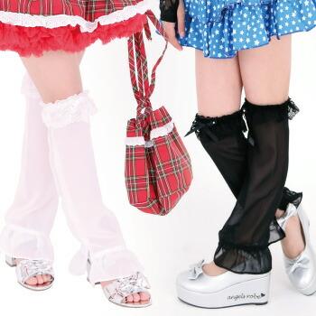 天使のドレス屋さん レッグカバー ダンス 衣装 おしゃれ シースルー 子供服 子供
