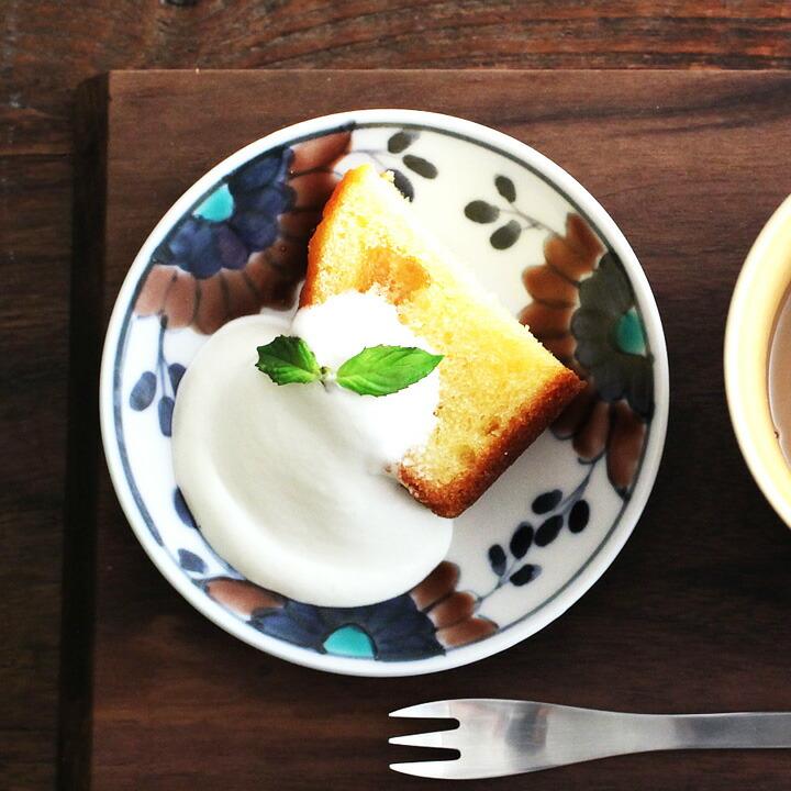 九谷青窯 高原真由美 色絵シオン 3.5寸皿 豆皿/くたにせいよう たかはらまゆみ