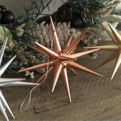 オーナメント(大) 金の星/銀の星/ブロンズの星 直径10cm