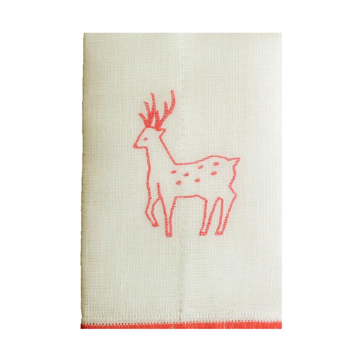 5色の鹿ふきん