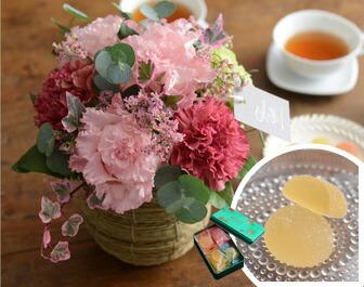 Kiitosスイーツセット 美しき可憐アレンジ ピンク