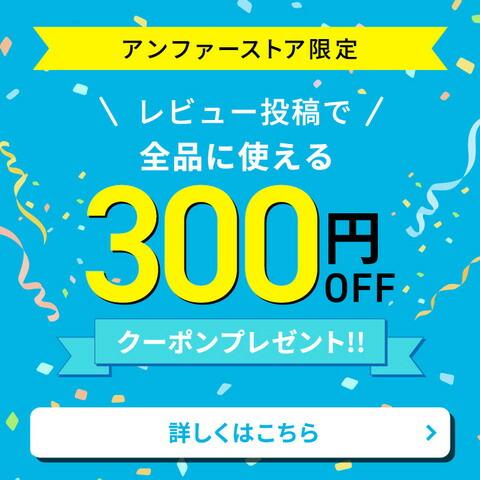 レビューを投稿すると300円クーポンプレゼント