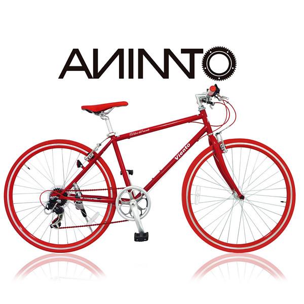 【ANIMATOアニマート】クロスバイク VIENTO(ヴィエント) 700c 自転車 街乗り 通勤 スピード おしゃれ おすすめ スタイリッシュ【シマノ7段変速】