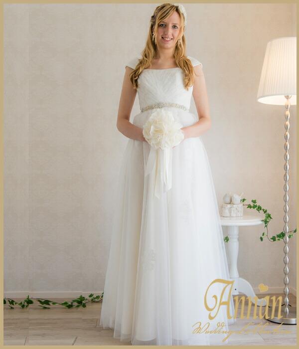 f83232ae23da4 花嫁ドレス 二次会花嫁 二次会  スワニーエンパイアドレス  花嫁 ウエディングドレスエンパイアライン 花嫁